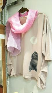 Tシャツ うさぎ ピンク